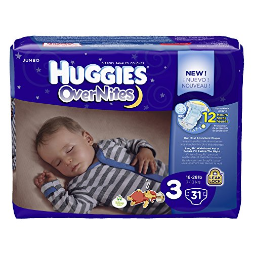 Huggies Overnite Diapers, Size 3, Jumbo, 31 ct (Size Diapers 3 Huggies Overnight)