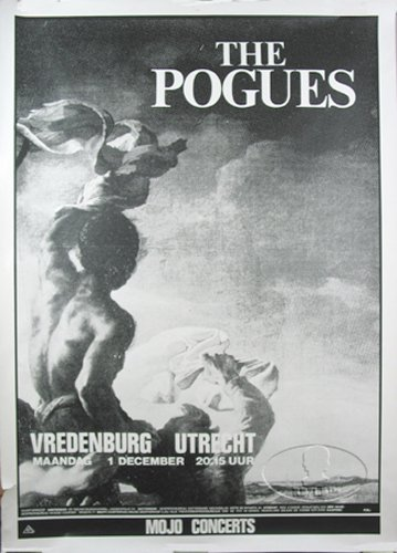 The Pogues 1986 Rum Sodomy & Lash Tour Concert Poster