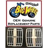 "Pair of Gray PEDALs for 16"" The Original Big Wheel, Original Replacement Part"