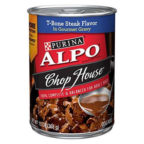Purina ALPO Gravy Wet Dog Food; Chop House T-Bone Steak Flavor - 13 oz. Can