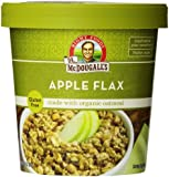Dr. McDougall's Right Foods Apple Flax Oatmeal Made With Organic Gluten Free Oats, 2.3-Ounce Cups (Pack of 6)