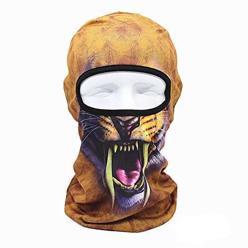 Terry Cap - Topgee 3D Printed Outdoor Party Cycling Ski Hat Balaclava Motorcycle Full Face Mask Women Men Face Mask Cap Summer