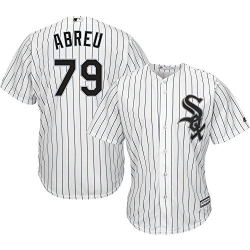 (Majestic Chicago White Sox Youth Jose Abreu Home Replica Jersey - White #79, Youth Medium)