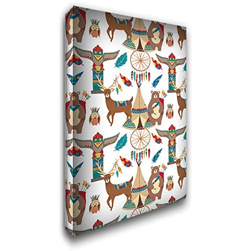Woodland Warriors Collection E 36x60 Extra Large Gallery Wrapped Stretched Canvas Art by Moore, -