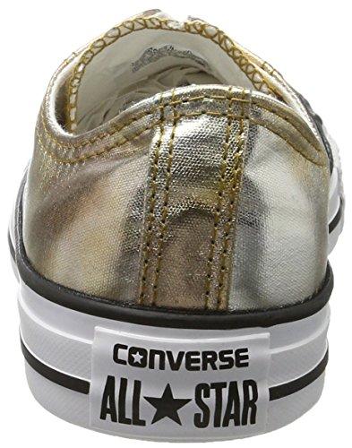 Converse Chuck Taylor All Star Ox Argento / Oro Scarpe Da Ginnastica In Argento