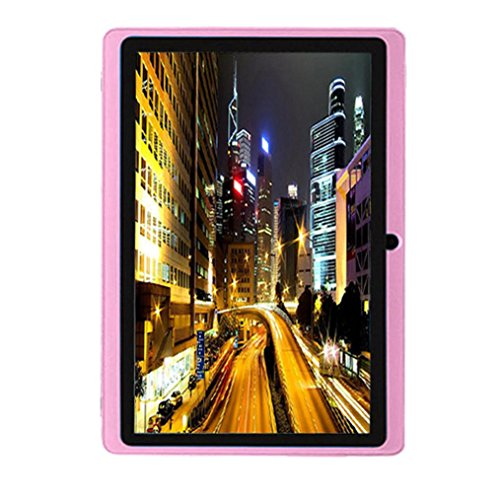 7Inches Tablet Pc Hd Touchscreen Mic Wifi Android 4 4 Octa Core Quad Core Tablet Pc 8Gb Dual Camera Wifi  Support Games  Skype  Msn  Facebook  Twitter  Etc  Pink