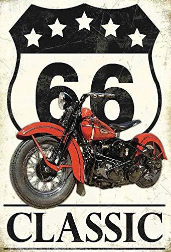 Cartel de Chapa genérica 20 x 30 cm Classic Route 66 Moto ...
