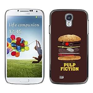Be Good Phone Accessory // Dura Cáscara cubierta Protectora Caso Carcasa Funda de Protección para Samsung Galaxy S4 I9500 // Movie Parody Funny Symbol Junk Food