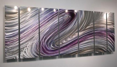 Amazon.com: Massive Majestic Fusion Of Purple, Silver U0026 Pecan Jewel Tone  Modern Abstract Hand Painted Metallic Wall Sculpture   Home Decor, ...