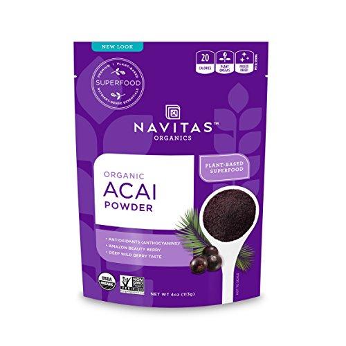 Navitas Organics Acai Powder, 4 oz. Bag ? Organic, Non-GMO, Freeze-Dried, Gluten-Free