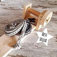 telaio tessitura tavolette in legno di abete, strumento base per principianti per tessitura a filo continuo, crea bordure in tessuto colorato, strumenti maglieria medievale per rievocazione storica
