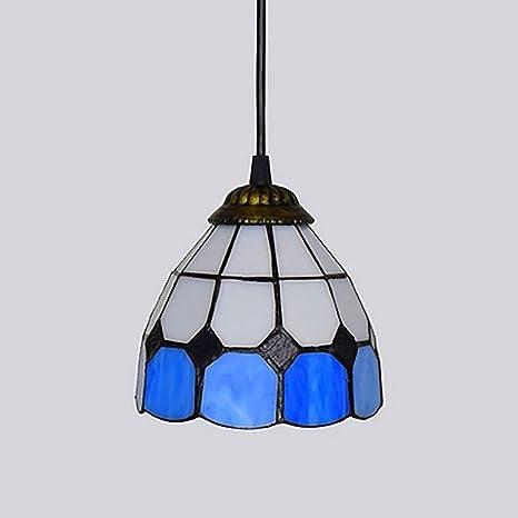 Lámpara colgante estilo Tiffany, lámpara de techo de cristal ...