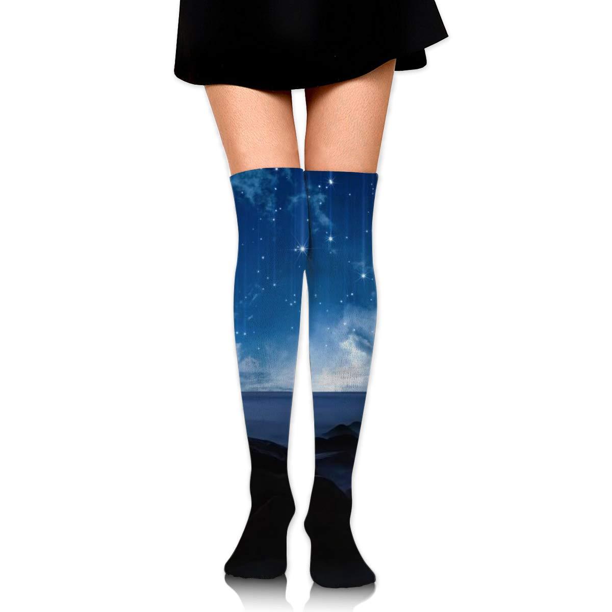 Women Crew Socks Thigh High Knee Beautiful Meniscus Long Tube Dress Legging Soccer Compression Stocking
