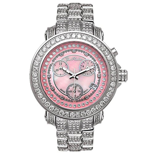 Joe Rodeo JRO9 Rio Diamond Watch, White Dial with Silver Paved Band