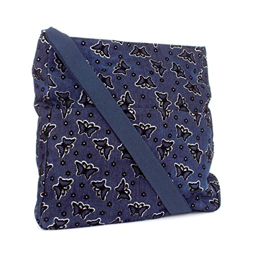 Zone Print Bag Blue Denim Zone Butterfly Denim Shoulder vanqdHw