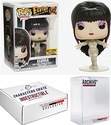 Funko Pop! Elvira As Macabre Mummy, Halloween Exclusive Vinyl Figure, Concierge Collectors Bundle