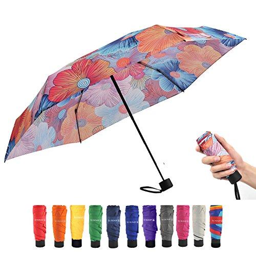 84b2b93c0ee4 Ke.movan Travel Compact Umbrella Windproof Mini Sun & Rain Umbrella ...