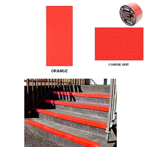 "Price comparison product image 2"" X 12' Red Roll Safety Non Skid Tape Anti Slip Tape Sticker Grip Safe Grit"