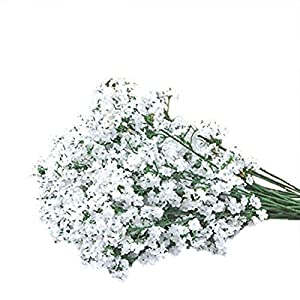 AOWA 10Pcs Fake Silk Home Wedding Gypsophila Baby's Breath Flower Plant Decals 95