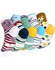 VBIGER 5 pares Niños Calcetines de Invierno Algodón Caliente Antideslizantes Calcetines 0-3 Años y 3-5 Años