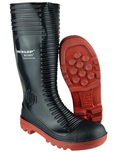 Dunlop Acifort A252931 Mens striées sécurité Welly Blk - 41