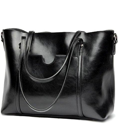 Covelin Womens Handbag Genuine Leather Tote Shoulder Bags Large Hot