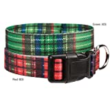 East Side Collection Scotty Plaid Collar, 18 by 26-Inch, Green