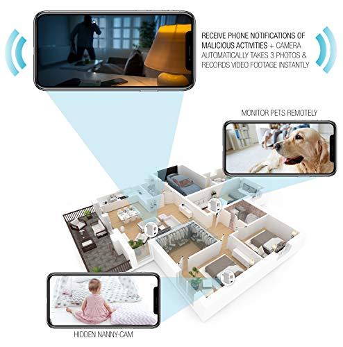 Timeqid Nanny Cam – Hidden Camera – Mini Spy Camera 1080p – Hidden Spy Camera – Hidden Nanny Cam – Hidden Spy Cam – Hidden Cam – Surveillance Camera Full HD – Free 32GB SD Card – WiFi is Optional