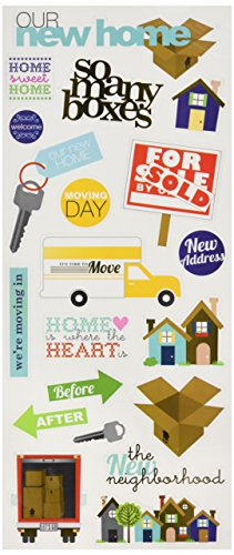Home Scrapbooking - Me & My Big Ideas Specialty Stickers, Our New Home