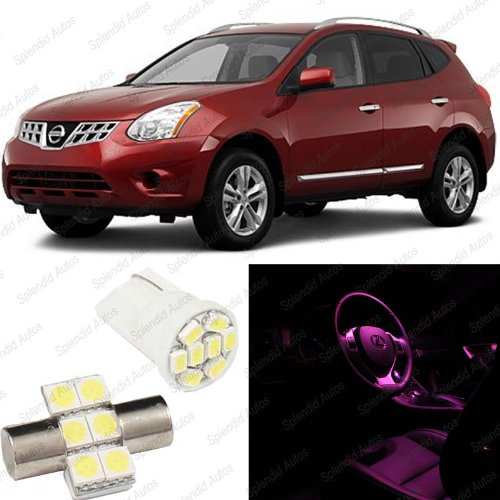 pink-led-nissan-rogue-interior-package-deal-2008-2012-6-pieces