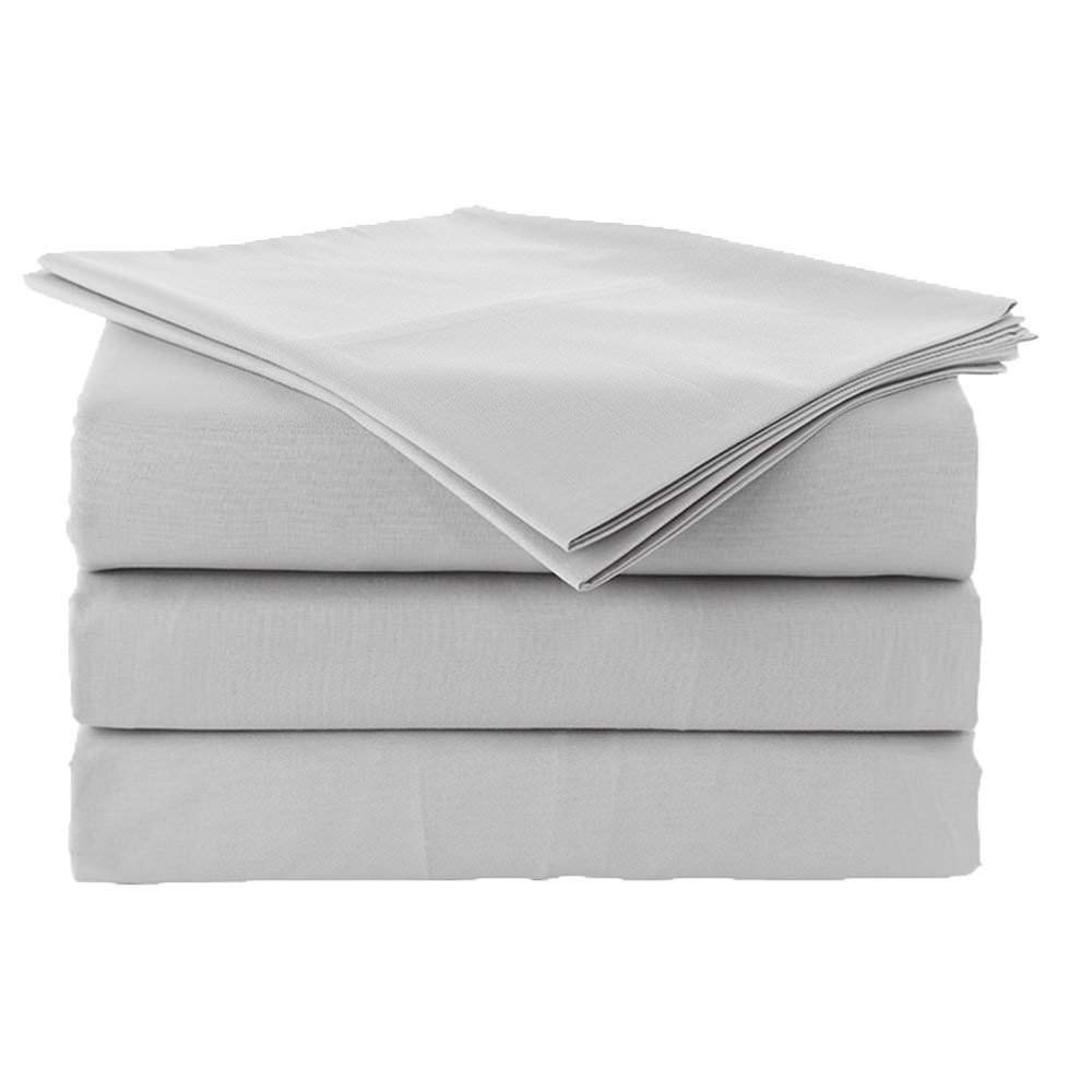 4 Pieces Bed Sheet Set- 400 Thread Count Sateen Weave Sheen & Softer Feel 100% Pure Natural Cotton Super Finish fit Mattress up to 15 inches deep Pocket. (Full XL, Solid White) Mattress-Homes AS- SHEET-400-TC