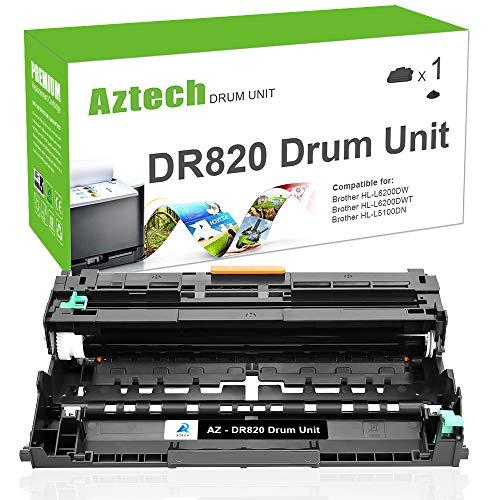AZTECH 1PK 30000 High Yield Drum for DR820 DR-820 DR 820 Drum Unit HL-L6200DW MFC-L5900DW Compatible for Brother HLL6200DW HL-L6200DWT HL-L5100DN HL-L5200DW MFC L5850DW L6800DW Laser Printer Drum Unit