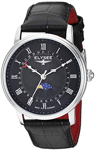 ELYSEE Men's 77003L Classic-Edition Analog Display Quartz Black Watch
