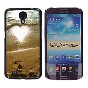 WonderWall Fondo De Pantalla Imagen Diseño Trasera Funda Carcasa Cover Skin Case Tapa Para Samsung Galaxy Mega 6.3 I9200 SGH-i527 - floral blanco rosado anaranjado de la vendimia