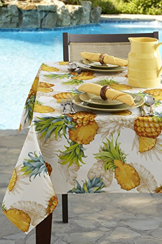 Cheap  Tropical Pineapple Indoor/Outdoor Spillproof Tablecloth (60