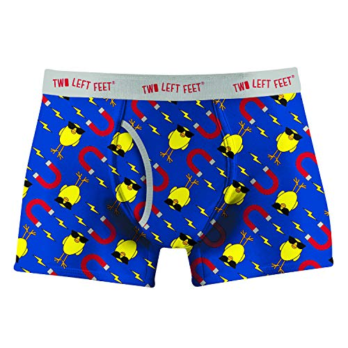 Two Left Feet Mens Boxer Brief Underwear, Chick Magnet X-Large