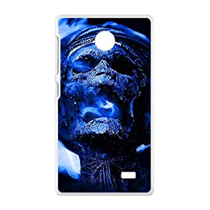 Blue Skull Custom Protective Hard Phone Cae For Nokia Lumia X