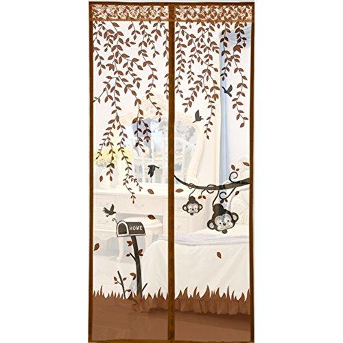 YUNJIE Magnet Fliegengitter T/ür,Full-Frame Velcro Schwerer Netzvorhang Z/äh und Langlebig Behalte Bugs aus Franz/ösisch T/ür Terrassent/ür Balkont/ür-A 70x200cm 28x79inch