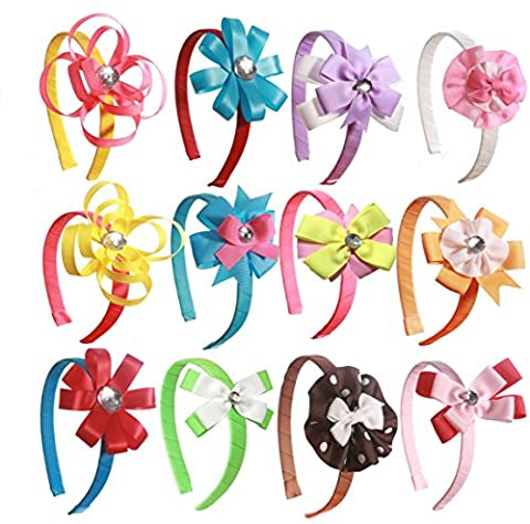 DIY 12 Headband Kit Educational Toys for Girls to Create Unique Hair Bows Great Girl Gift and Craft for Girls
