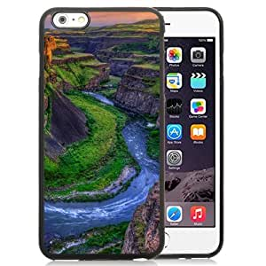 NEW Unique Custom Designed iPhone 6 Plus 5.5 Inch Phone Case With River Canyon Sunset_Black Phone Case