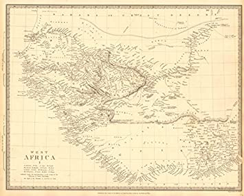 Senegal River Africa Map.West Africa Senegal Gambia Guinea Ashanti Ivory Gold Grain Coast