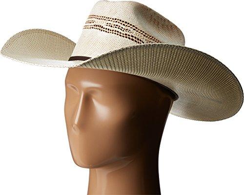 Twister Mens 2-Tone Tan Bangora Maverick Cowboy Hat, Natural, 7 5/8