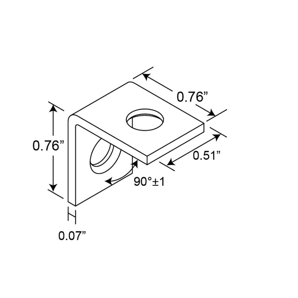 4 Piece Prime-Line MP11353-4 Corner Bracket