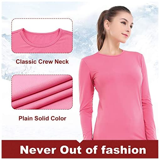 MANCYFIT Thermal Underwear for Women Long Johns Set Fleece Lined Ultra Soft 2 Pack Black//Blue XXX-Large