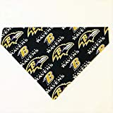 Baltimore Ravens Dog Bandana No-Tie Design