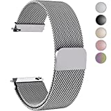 Fullmosa Gear S3 Bands, Milanese Loop 22mm Watch Band/Strap with Quick Release Pins for Samsung Gear S3 Frontier/S3 Classic Band Moto 360 2nd Gen 46mm Watch Strap/Band, Silver
