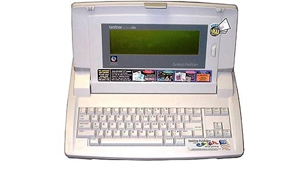 Brother dp-530cj máquina de escribir Plus procesador Desktop Publisher 14 línea pantalla LCD, 3,5 pulgadas de 1,44 MB unidad de disco Straight tecnología de ...