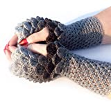 HANDMADE Finger less Gloves Crocodile Dragon Scale Gloves Scales Style Christmas Gift