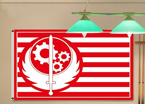 Price comparison product image New California Brotherhood of Steel Red Fallout 4 Exclusive Flag 3x5 feet