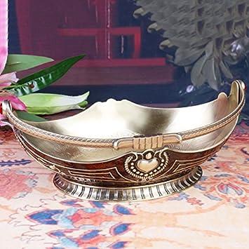 SU@DA Metal cesta frutas mango y versátil/toallas placa continental/vintage/creativo/frutas/cesta/sala de estar/comedor/moda/adornos , 26.8x17x19cm: ...